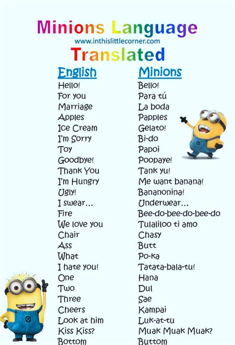 language translator free minions language translator printable