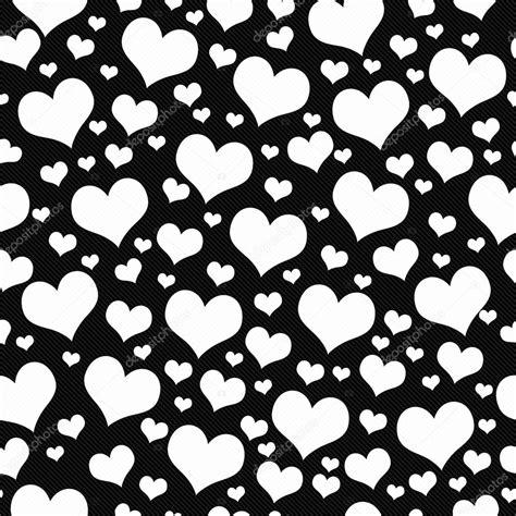 imagenes en blanco y negro de corazones repita el patr 243 n de mosaico de corazones blanco y negro