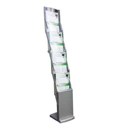 porta depliant portadepliant da terra in alluminio e plexiglass