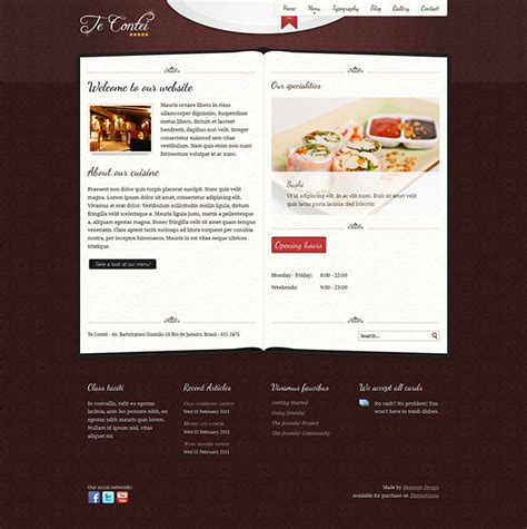 website top bar design 25 best html website templates for cafe bar restaurant