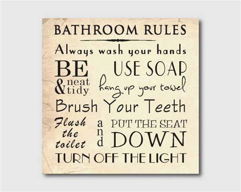 printable bathroom rules 9 best images of vintage bathroom art printables