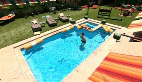 big brother backyard big brother 18 houseguests enjoy new backyard pool pics