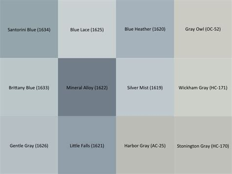 Gray Paint Swatches | benjamin moore gray and blue paint sles for the