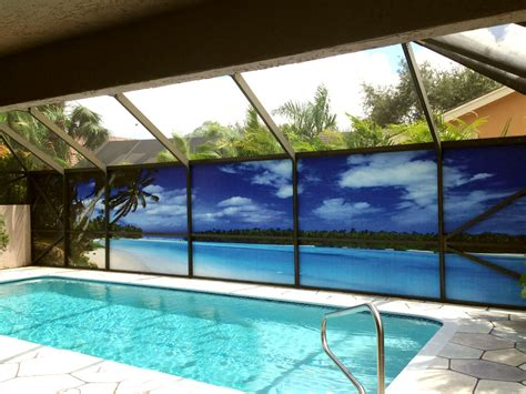pool screen privacy curtains a new take on pool privacy screen
