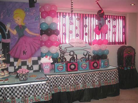 tales birthday 50 s diner sock hop