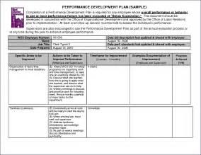 employee plan template doc 680849 employee development plan template free