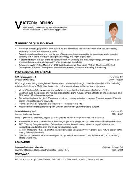 Photo Resume Template by Spong Resume Resume Templates Resume Builder