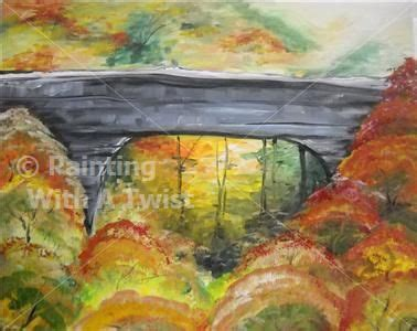 paint with a twist lubbock bridge in the fall lubbock tx painting class