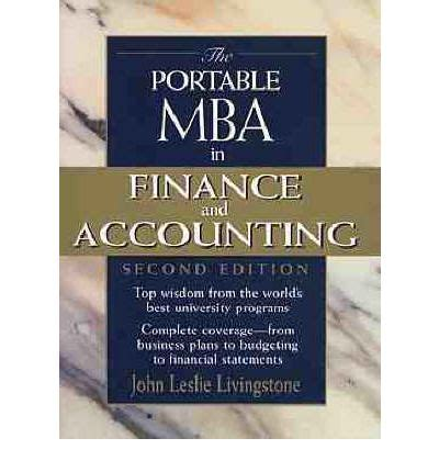 Portable Mba Book by The Portable Mba In Finance And Accounting Leslie