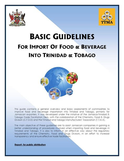 Basic Import basic guidelines for import of food bev in tt oct 2013 by jamaica trade desk issuu