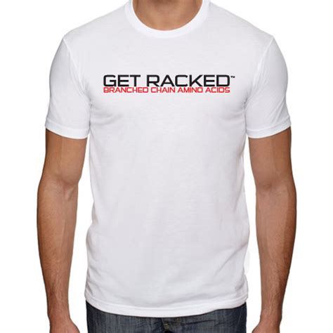 Getting Racked by Mens Get Racked T Shirt White Black Logo
