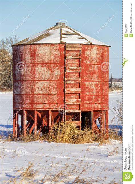 Barn Homes For Sale red wooden grain bin stock image image 36021651