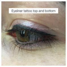 tattoo eyeliner top and bottom eyebrow and top eyeliner tattoo www cinnamongirlclinic ca