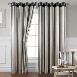 Grey Striped Curtains Montana Stripe 10 Grey Eyelet Curtains Eyelet