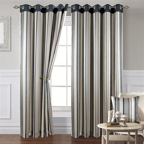 Gray Striped Curtains Montana Stripe 10 Grey Eyelet Curtains Eyelet Curtains Curtains Linen4less Co Uk