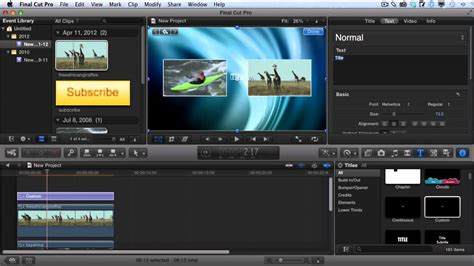 How To Create Youtube Video Outro S With Final Cut Pro X Youtube Cut Pro Lyric Template