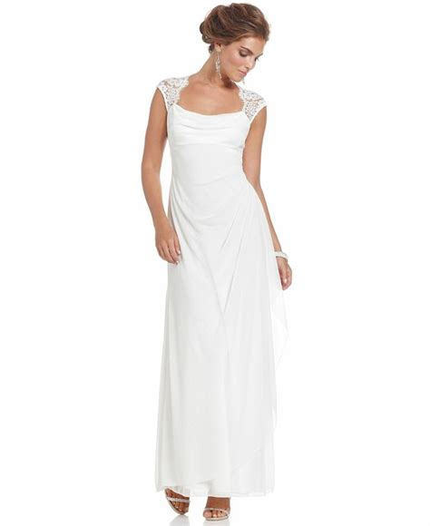 Macys Wedding Gowns by Xscape Dress Cap Sleeve Lace Evening Gown Bridal
