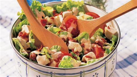 easy salad recipes easy club salad recipe bettycrocker com