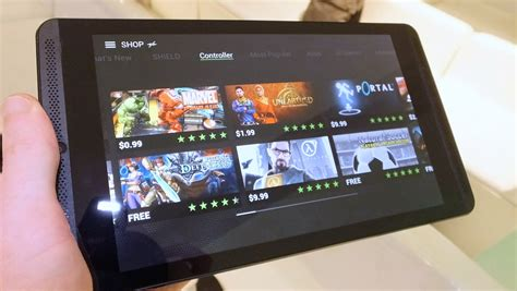 play steam on android nvidia shield tablet on steam on a slate gizmodo uk