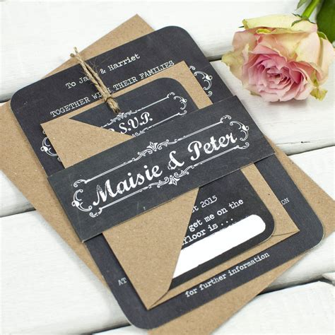 Wedding Invitation Bundles by Chalkboard Wedding Invitation Bundle By Norma Dorothy