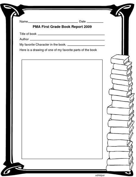book report template 1st grade best photos of author book templates open book template