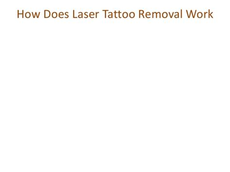 laser tattoo removal how it works how does laser removal work