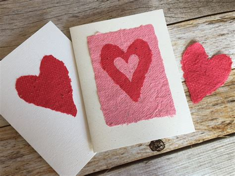 Handmade Paper Hearts - papery ideas ideas for using handmade paper