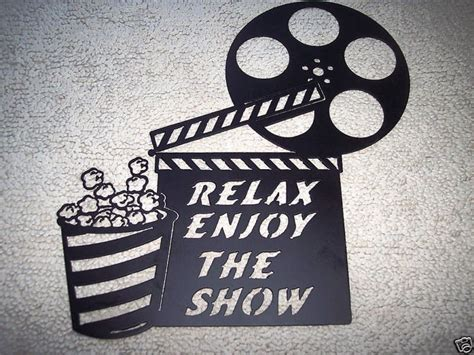 home movie theater wall decor custom made home theater decor clapboard and popcorn relax