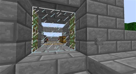 Minecraft Glass Door by Piston Door V3 Glass Door Minecraft Project