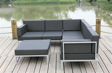 outdoor metal sofa china casual selectional metal sofa set aluminum outdoor