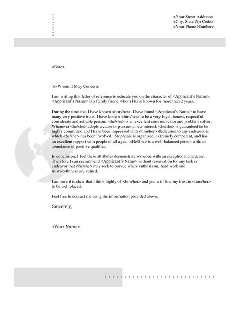 letter of recommendation fresh letter of recommendation wording