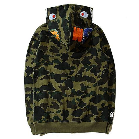 Bape Shark Camo a bathing ape bape wgm camo shark hoodie army green