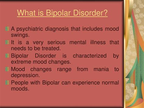 what causes mood swings in bipolar disorder ppt bipolar disorder causes and treatments powerpoint