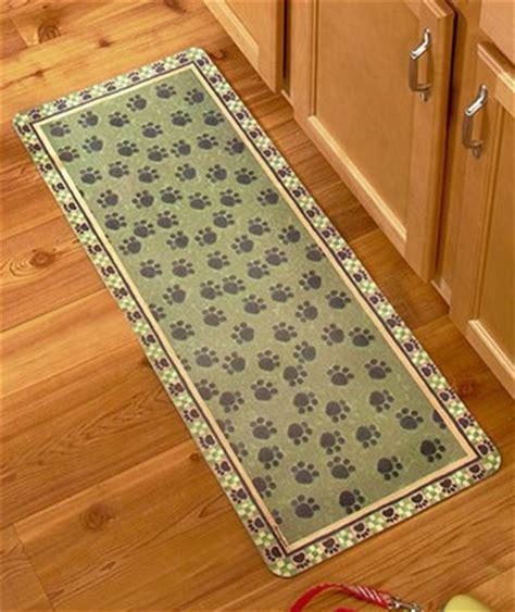 pet rugs runners green or paw print rug or runner mat pet cat kitchen floor nonskid new ebay