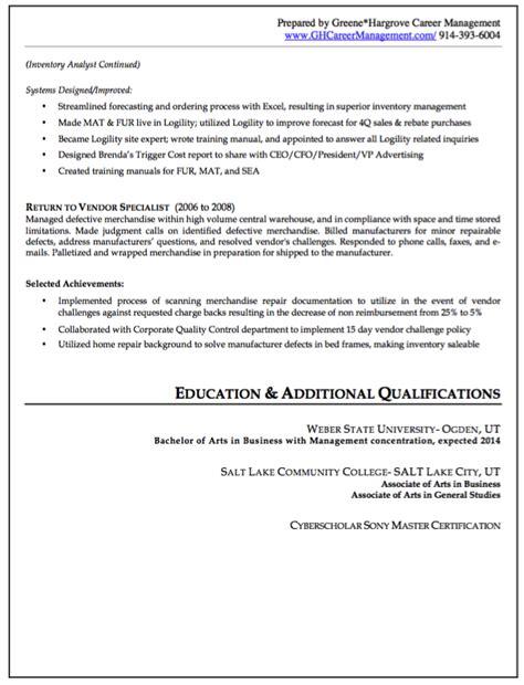 buyer resume exle resumes design