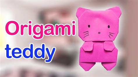 How To Make Teddy With Paper - origami teddy origami teddy tutorial paper