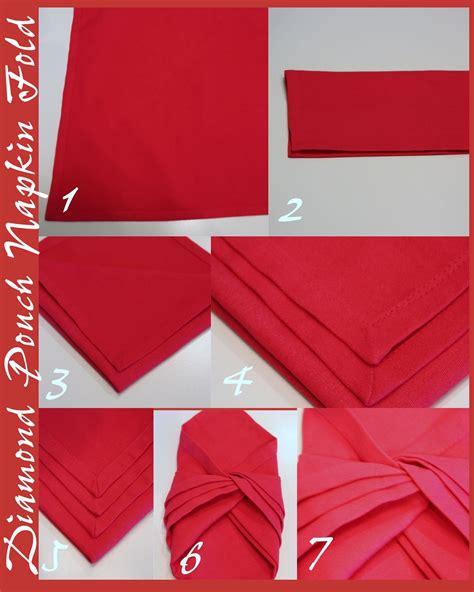 Folding Dinner Table by Diamond Napkin Fold Stonegable