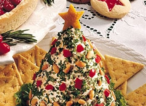 holiday tree shaped cheese ball recipe pinterest