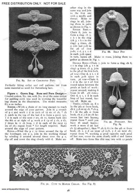 antique pattern library priscilla apl 6 ja025 priscilla irish crochet book no 2 page 48