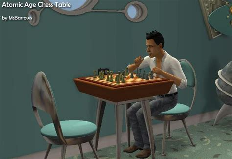 chess table chairs sims 3 mod the sims atomic age chess table