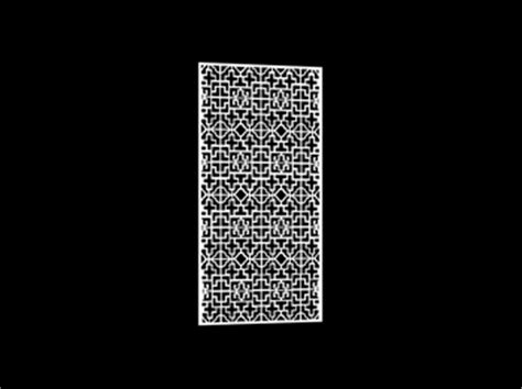 3D Model of Chinese carved hollow partition 4 5 3D Model