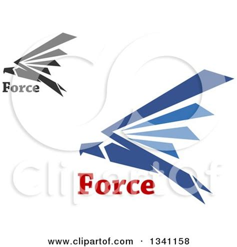 Flying Eagle Fast Blade Black Blue royalty free falcon illustrations by vector tradition sm
