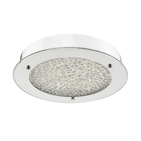 peta flush chrome and glass led ceiling light ceiling