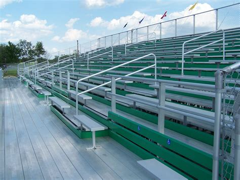 bleacher seating capacity ada compliant bleachers national recreation systems
