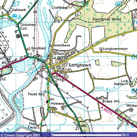 nucleated pattern definition copyright ordnance survey