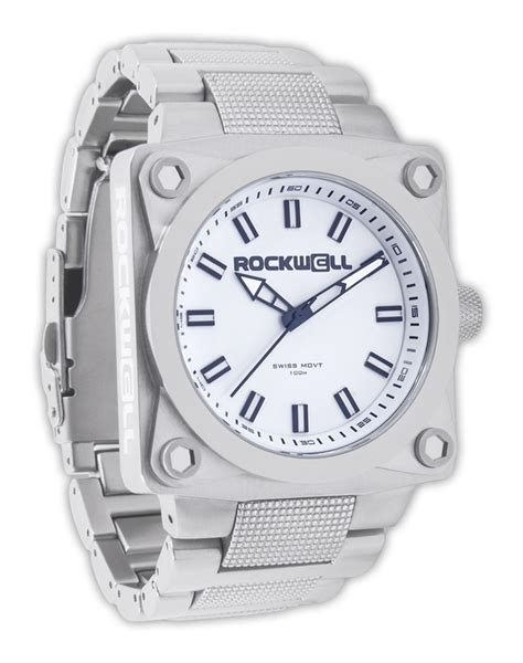 747 silver white rockwell watches