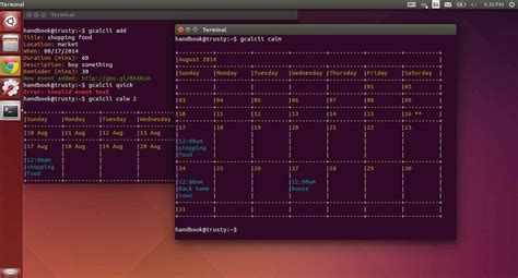 Desktop Calendar Widget Gcalcli Calendar In Command Line Desktop Widget