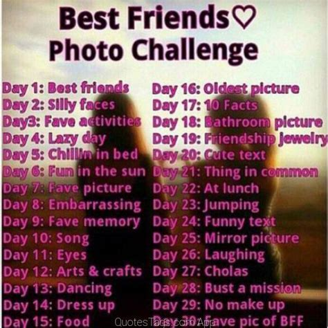 Photo challenge with best friend   Best friend things