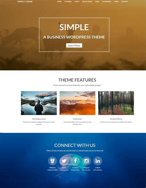 enfold theme one page website 20 best free wordpress themes responsive 2018 dessign