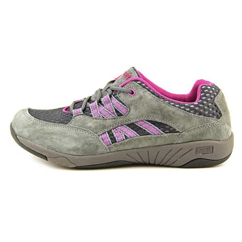 propet athletic shoes propet propet leila suede gray walking shoe athletic
